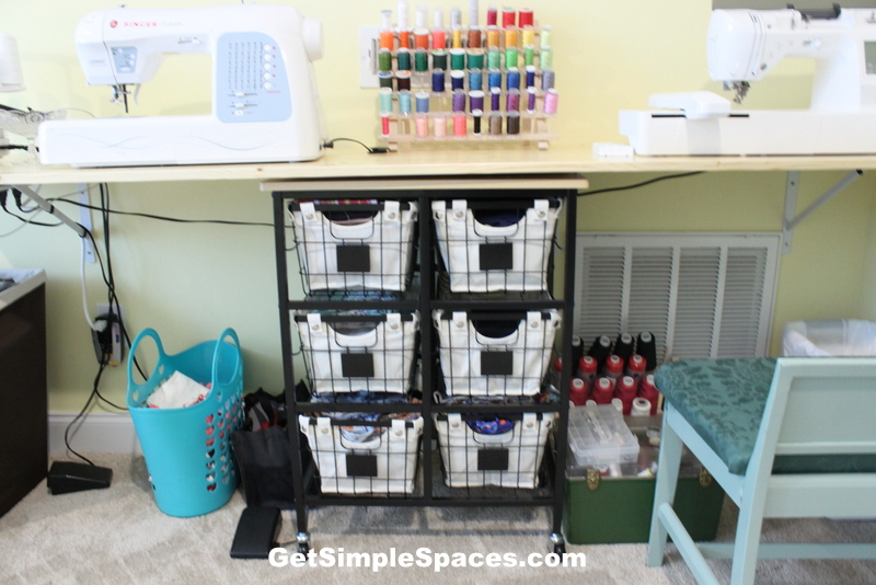 organized sewing room