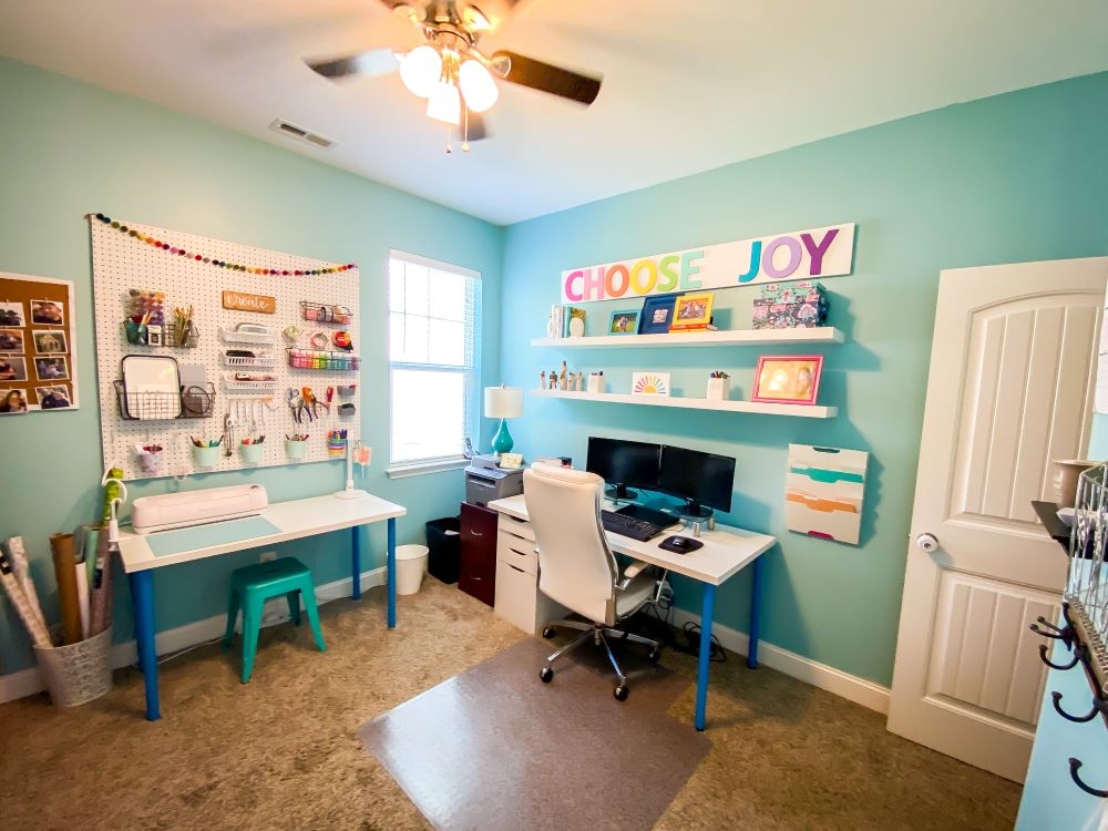 Desk and craft area