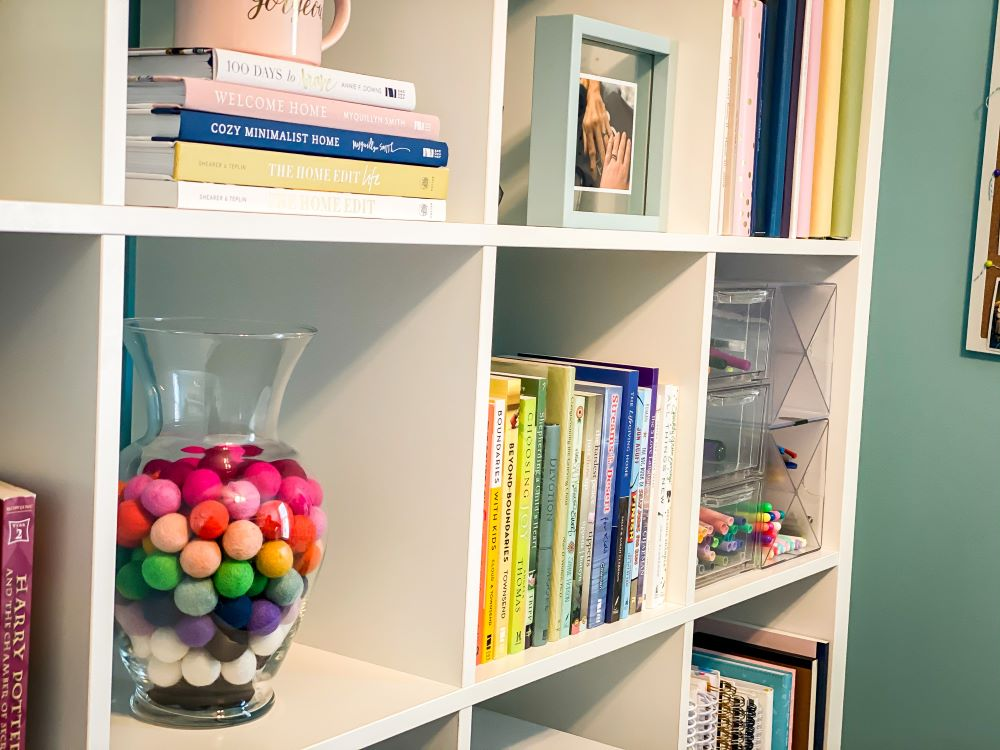 cube shelf close up