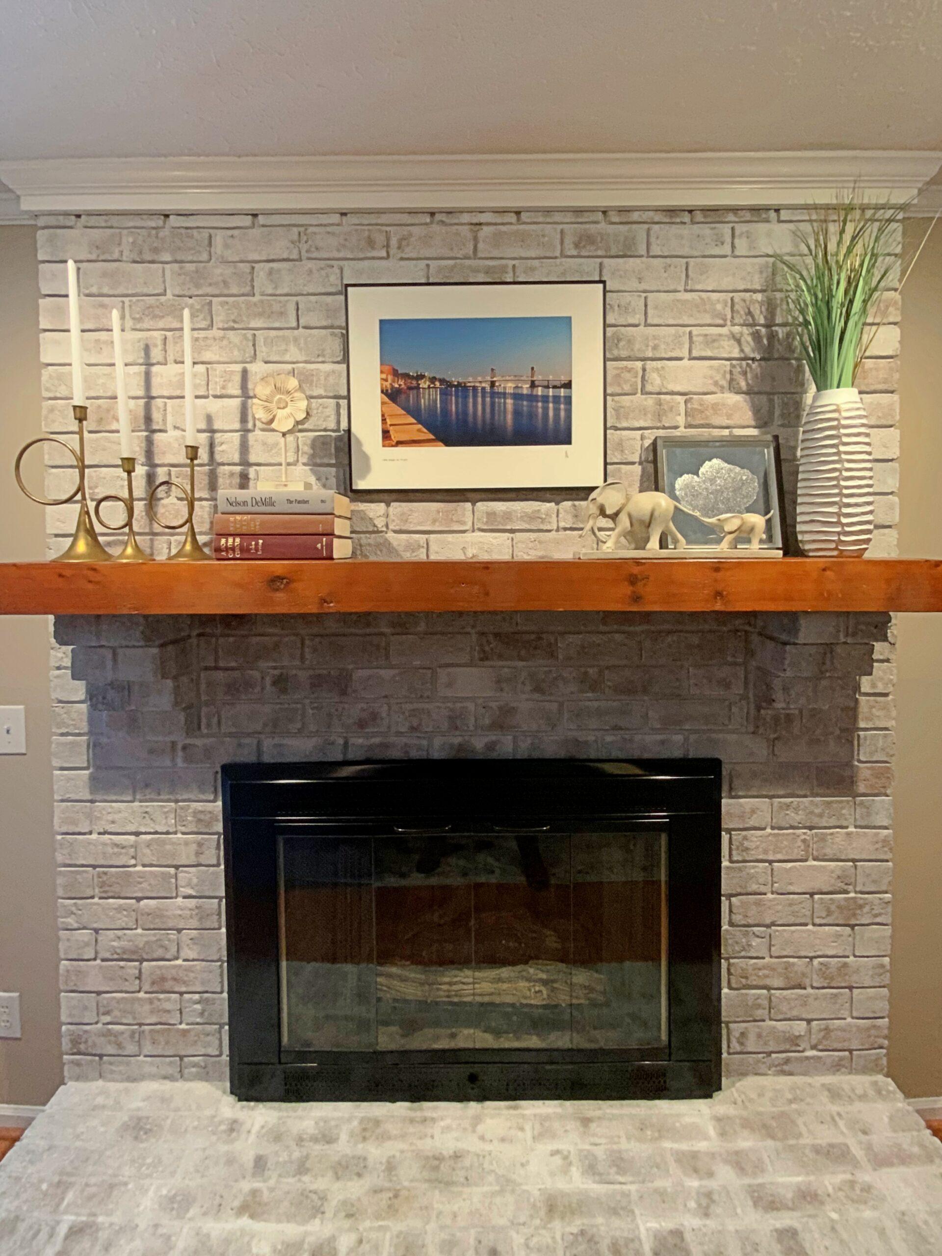 Fireplace up close
