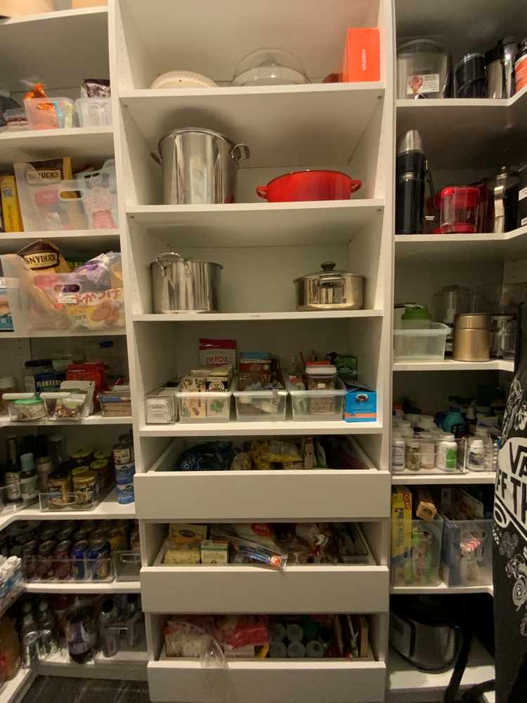 Pantry center after