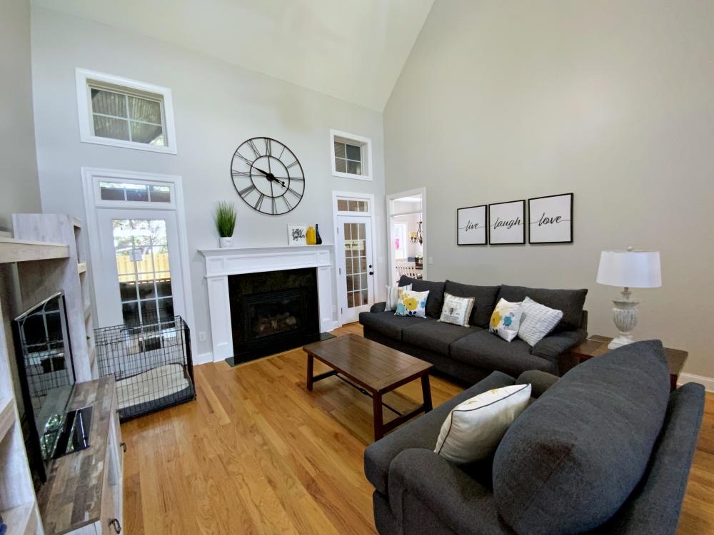 Living room after left corner angle
