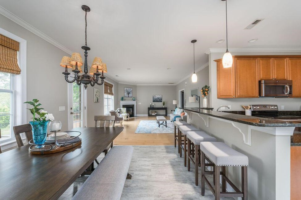 Kitchen dining living